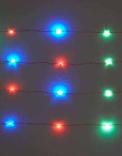 Kikkerland Multi Color String Lights