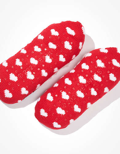 AEO Snoopy Valentines Slipper Sock