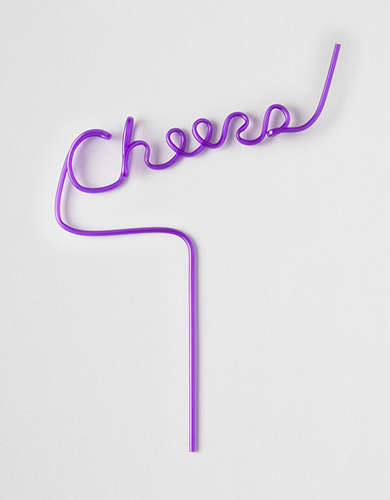 Twelve NYC Cheers Straw -