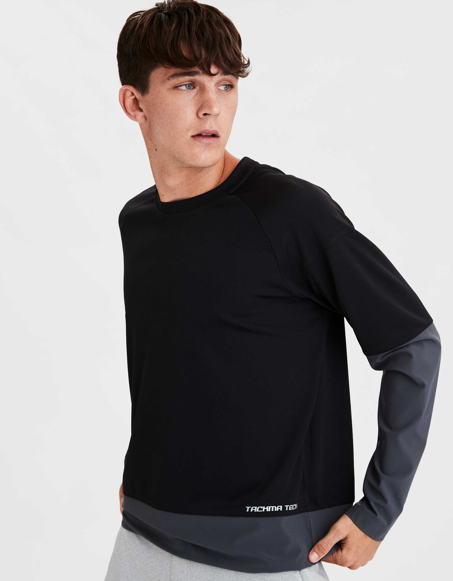 TACKMA Mixed Fabric Tech T-Shirt