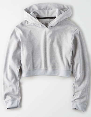 TACKMA Performance Fleece Cropped Hoodie