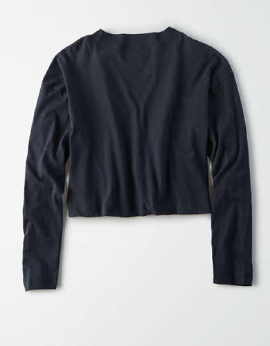 AE Studio Long Sleeve Boxy Cropped T-Shirt