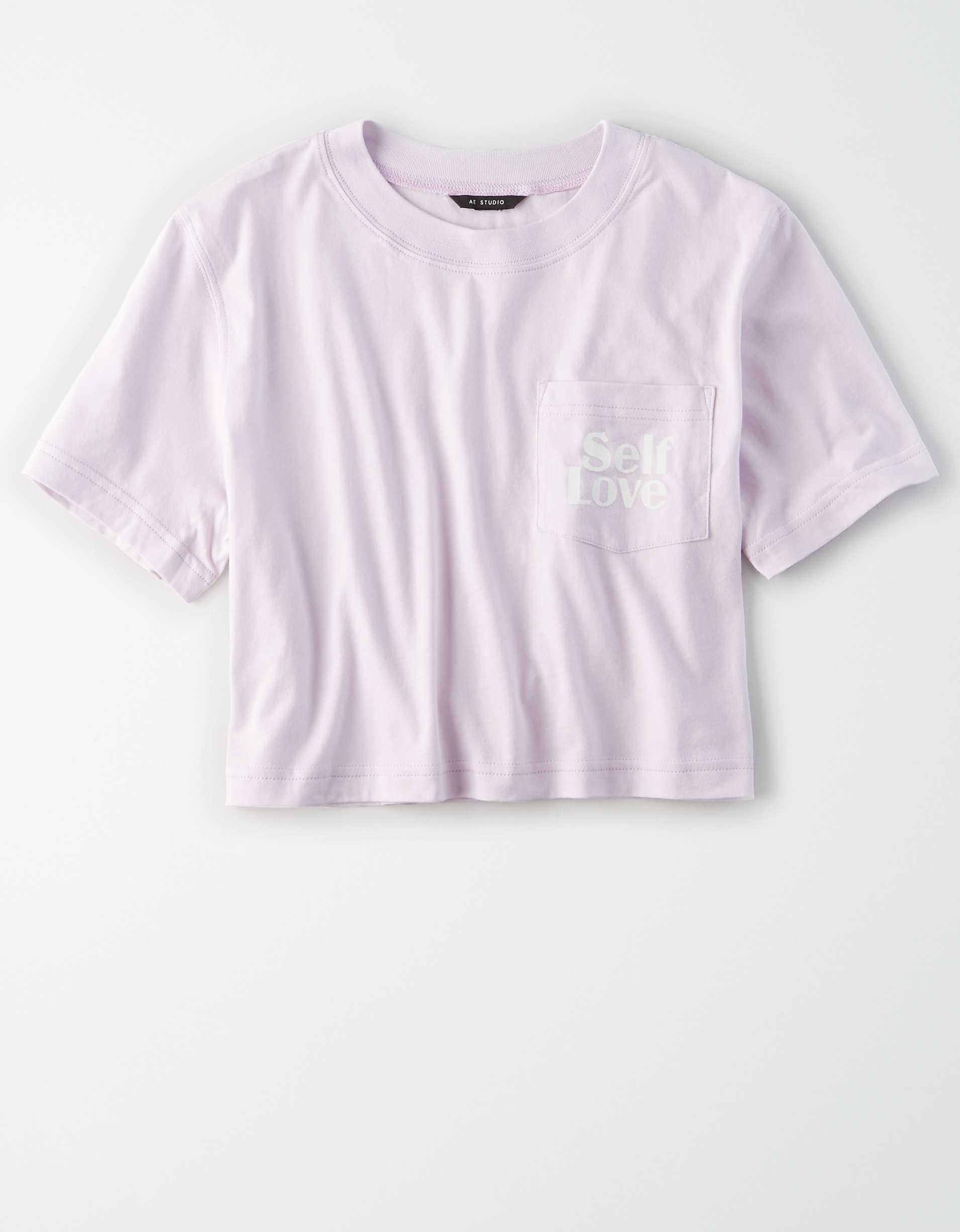 AE Studio Cropped Crew Neck T-Shirt
