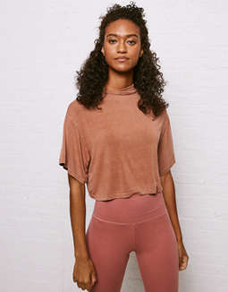 Don't Ask Why Mock Neck Dolman T Shirt by American Eagle Outfitters