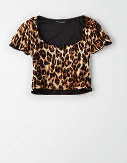 e5b5c53923da Short Sleeve T-Shirts. placeholder image AE Studio Mesh Puff Sleeve Top ...