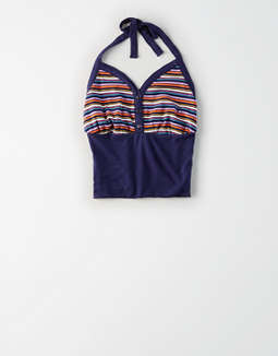 AE Studio Striped Halter Top