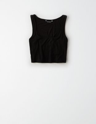 Ae Studio Square Neck Tank Top by American Eagle Outfitters