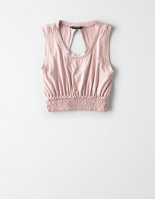 Ae Studio Smocked Tank Top by American Eagle Outfitters