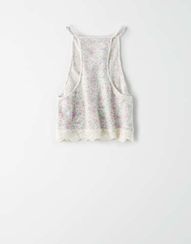 AE Studio Lace Hem Tank Top
