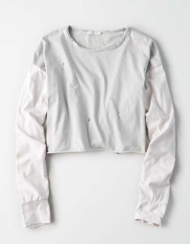 Don't Ask Why Destroy Cropped Baseball Tee