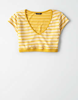 AE Knit Striped V-Neck T-Shirt