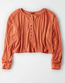 AE Studio Long Sleeve Henley T-Shirt