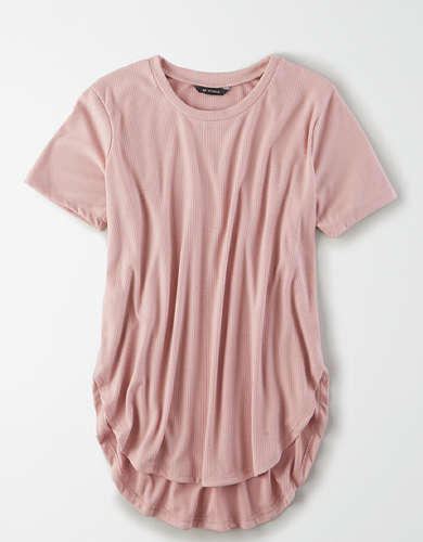AE Studio Ribbed Hi-Low T-Shirt