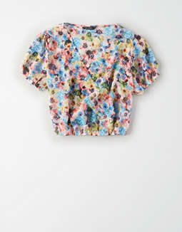AE Studio V-Neck Crop Top