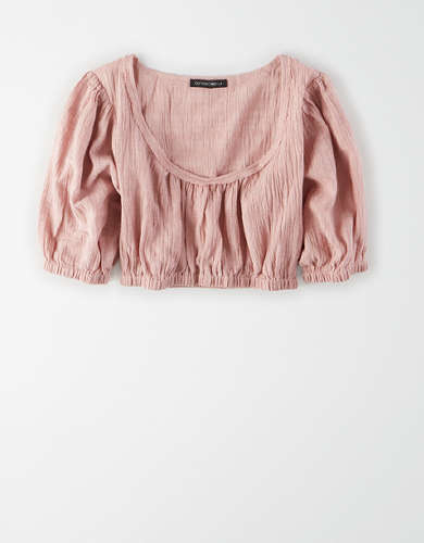 AE Studio Puff Sleeve Crop Top