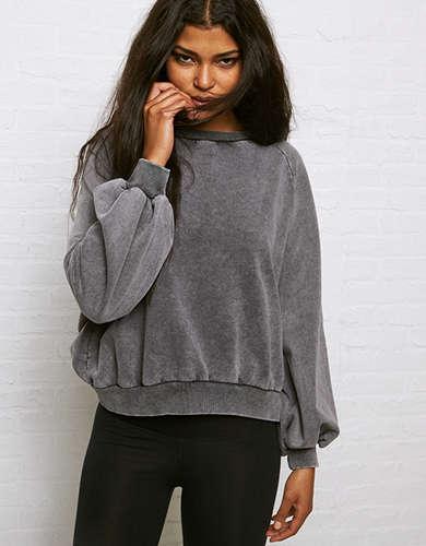 Don't Ask Why Oversized Sleeve Fleece Sweatshirt