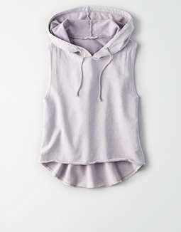 Don't Ask Why Sleeveless Cropped Hoodie by American Eagle Outfitters