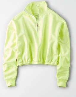 Ae Studio Half Zip Sweatshirt by American Eagle Outfitters