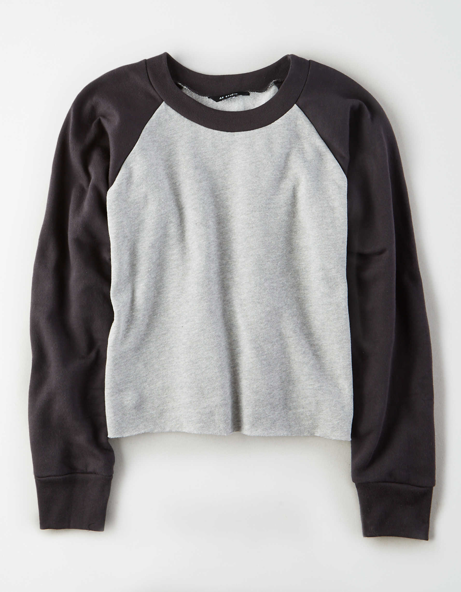 AE Studio Color Block Pullover Sweatshirt