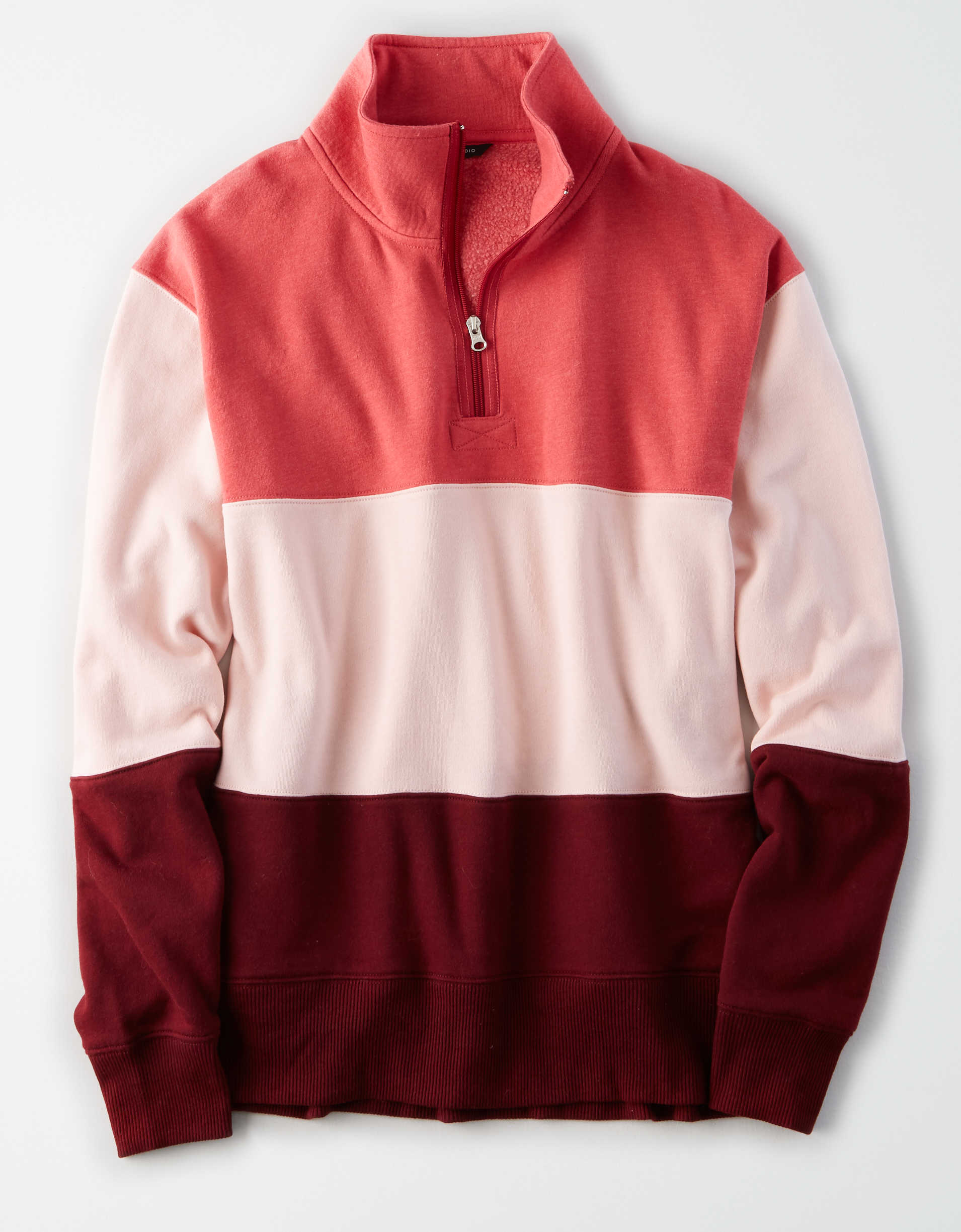 AE Studio Color Block Quarter Zip Sweatshirt