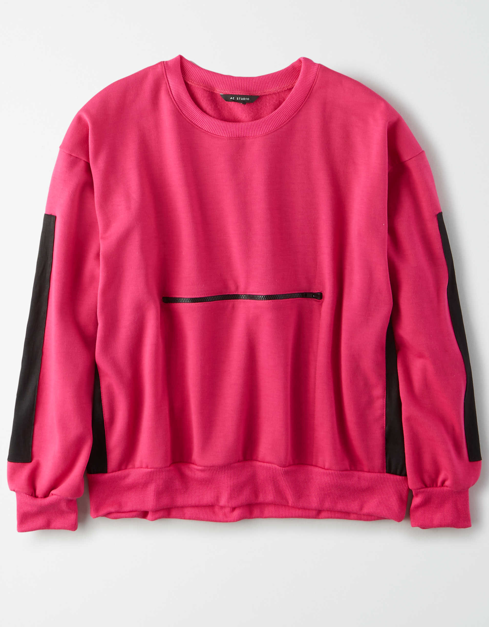 AE Studio Color Block Crew Neck Sweatshirt