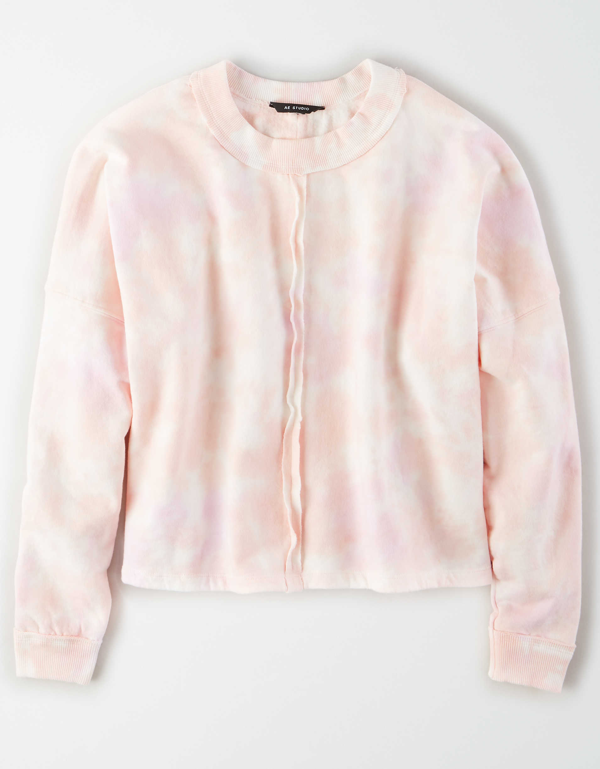 AE Studio Fleece Tie Dye Crew Neck Sweatshirt