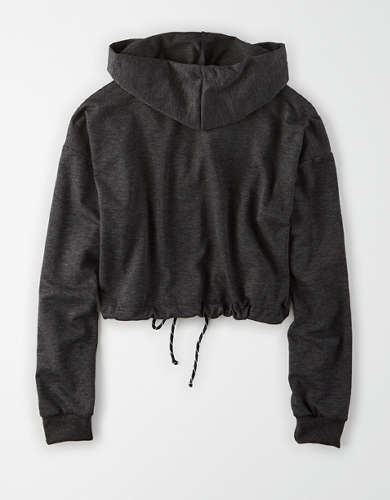 AE Fleece Cropped Zip Up Hoodie