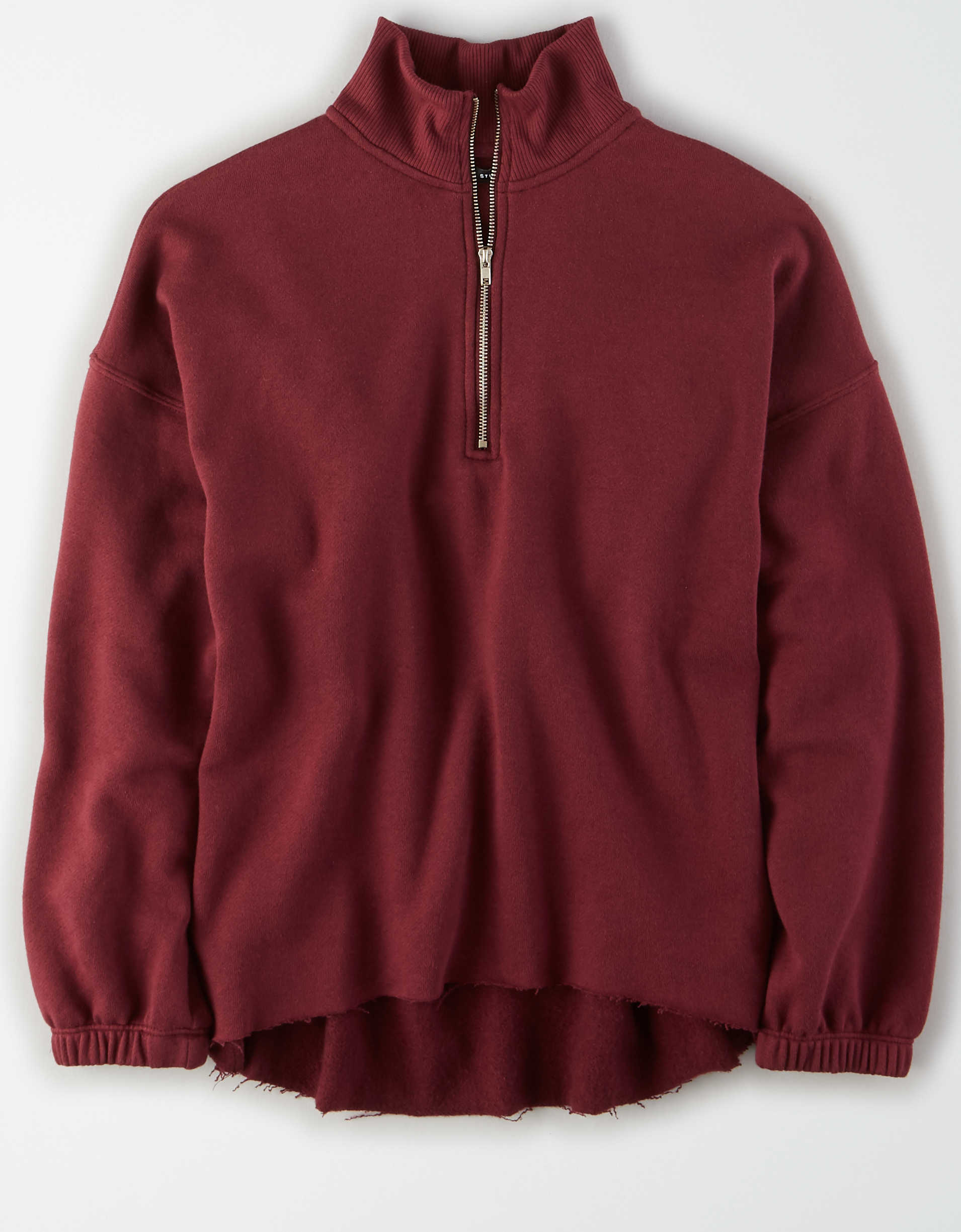 AE Fleece Oversized Quarter Zip Sweatshirt