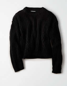 Don't Ask Why Crew Neck Pullover Sweater by American Eagle Outfitters