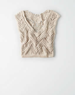 916f20799f10a3 Sweater Tanks · placeholder image AE Studio Crochet Tank Top ...