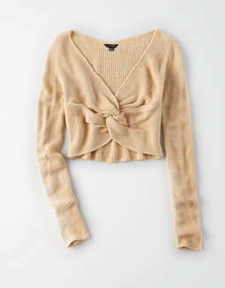 AE Studio Twist Front Sweater