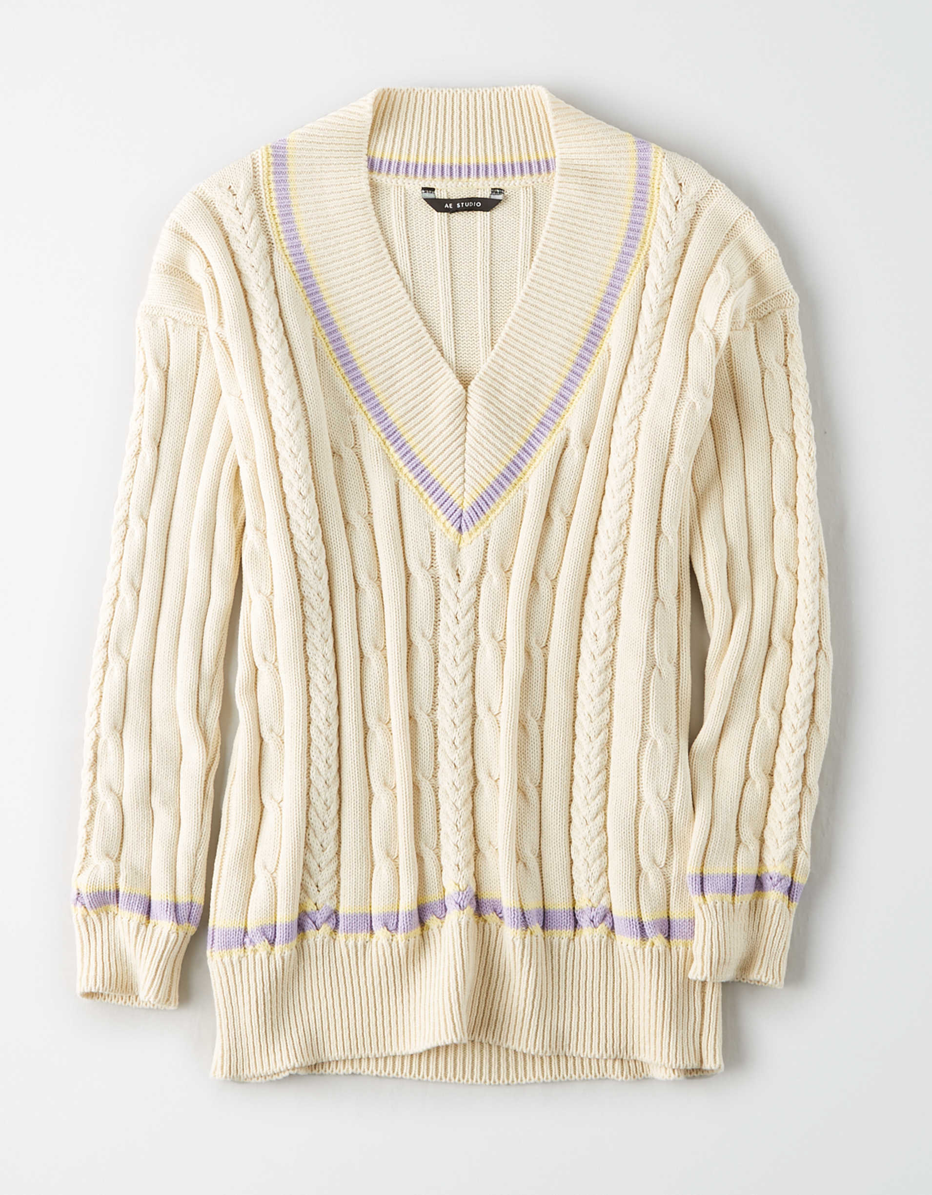 AE Studio Oversized Varsity Sweater