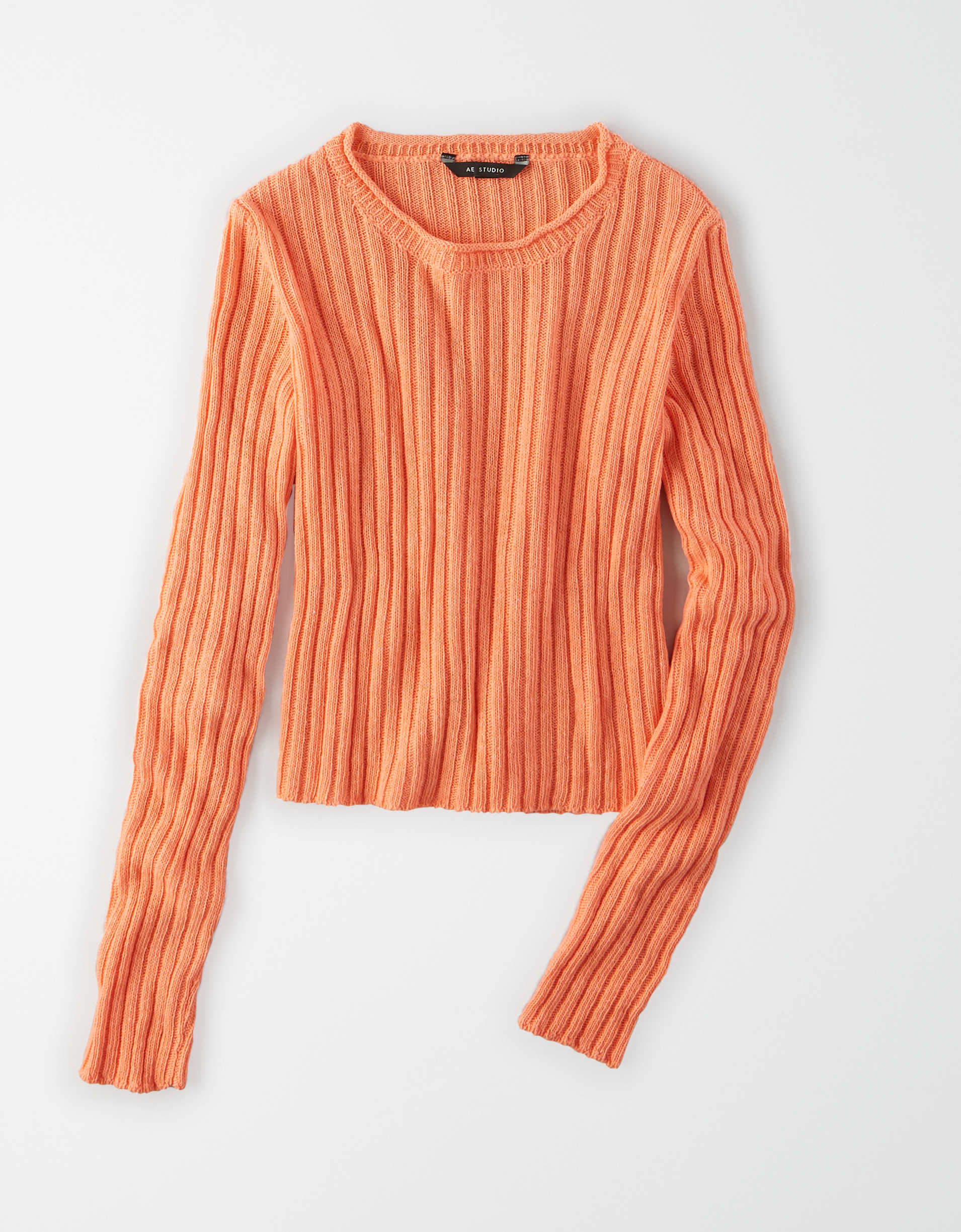 AE Studio Cropped Crew Neck Sweater