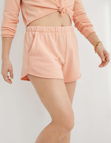 Aerie Real Good Sunset Terry Fleece High Waisted Short