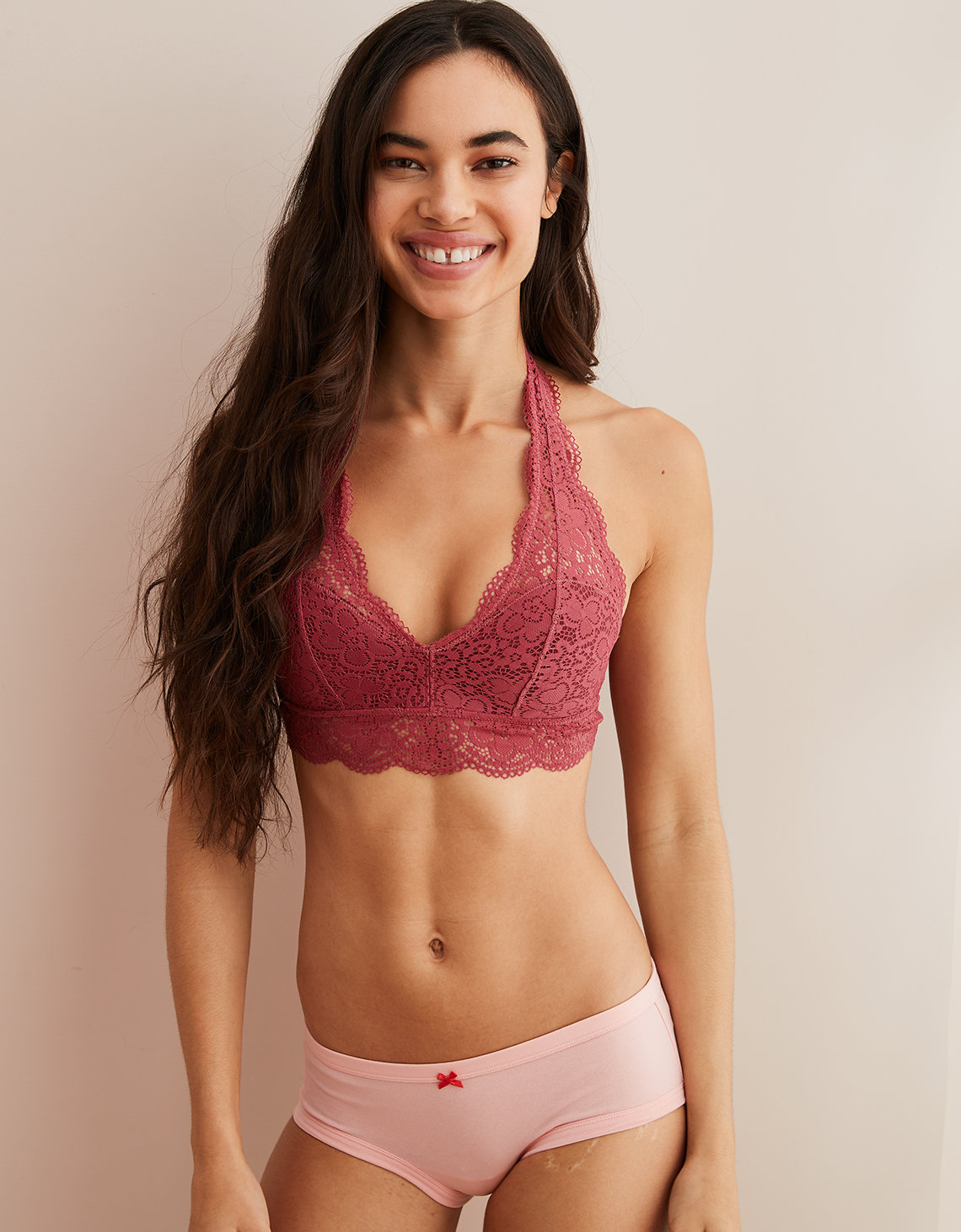 f899acf50d Aerie Wildflower Lace Padded Halter Bralette. Placeholder image. Product  Image