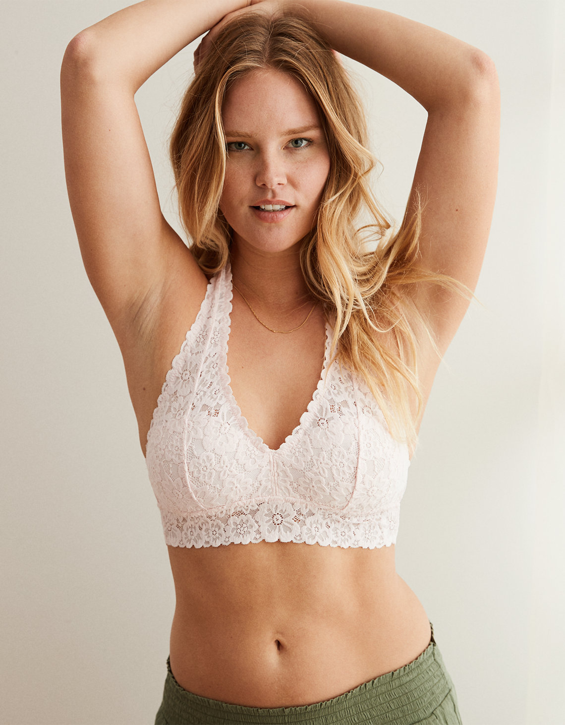 a48f7252d99f15 Aerie Softest® Lace Halter Bralette. Placeholder image. Product Image