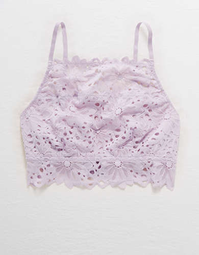Aerie Lace High Neck Bralette