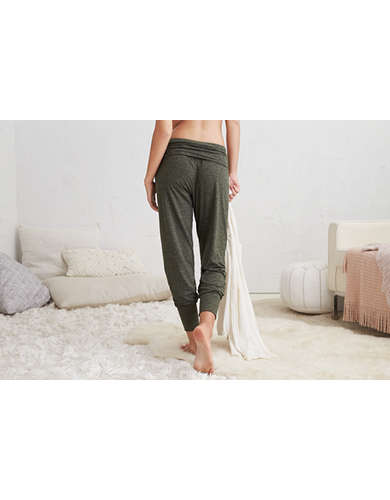 Aerie Plush Harem Jogger Dark Heather American Eagle Outfitters