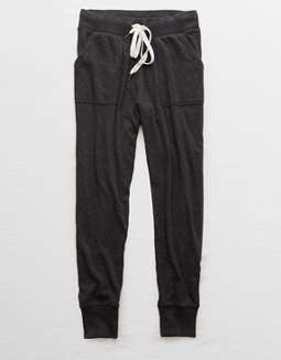 Shoptagr Aerie Fleece Ribbed Cuff Jogger By American Eagle Outfitters