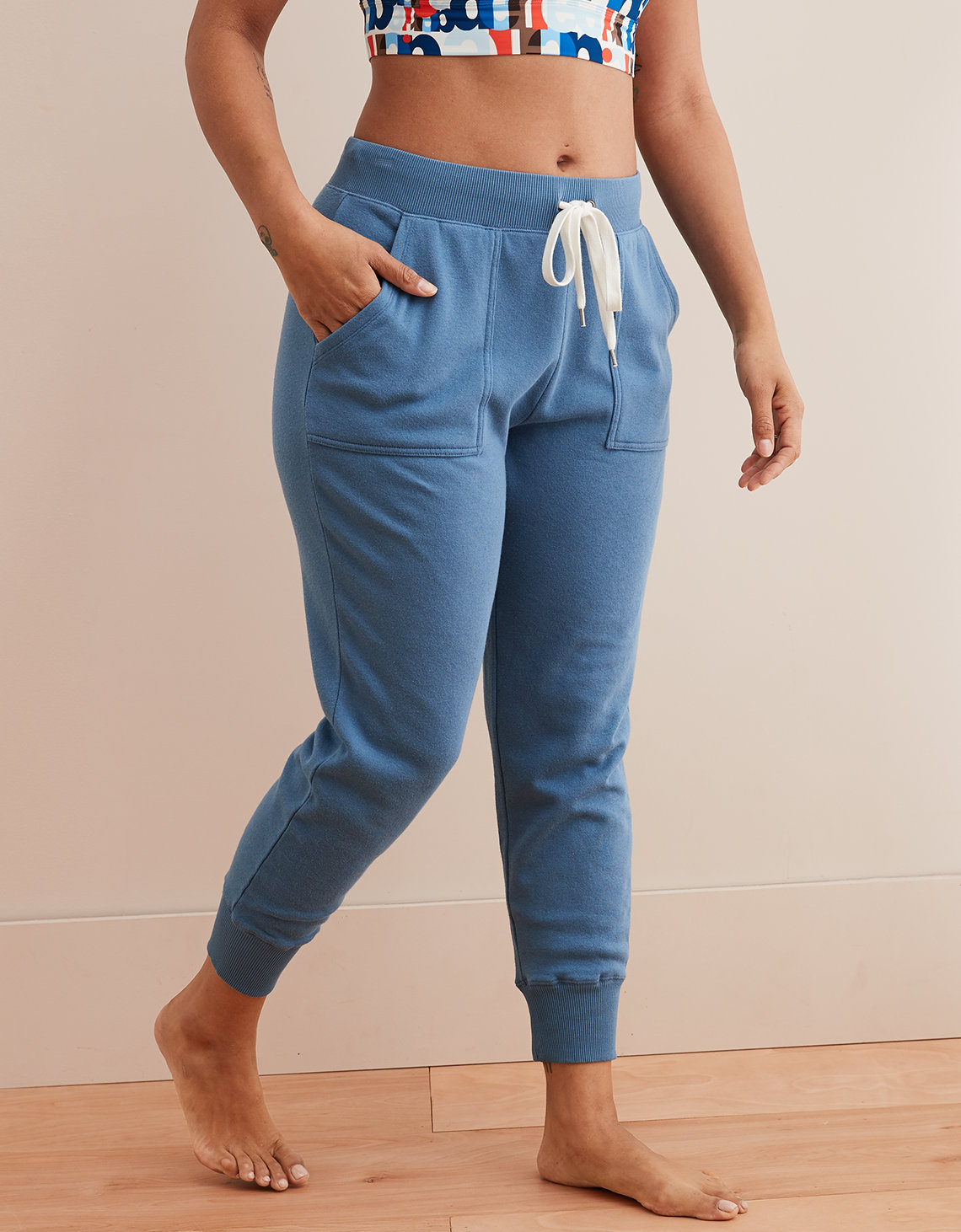 Aerie Fleece Ribbed Cuff Jogger
