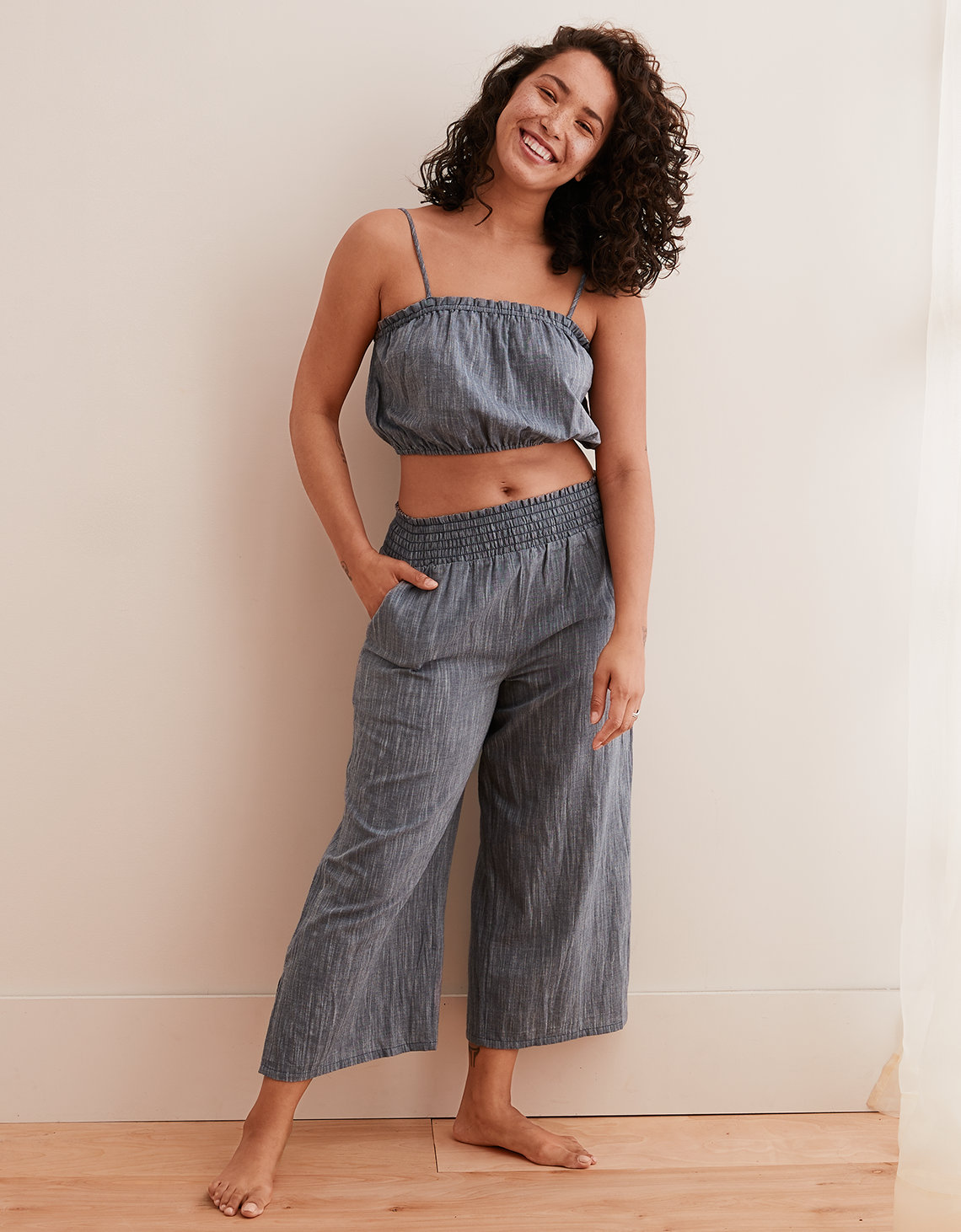Aerie Twill Culotte Pant