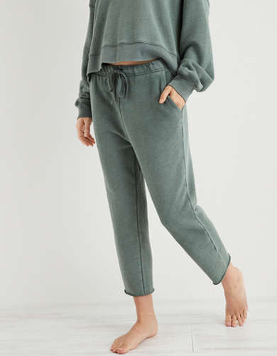 Aerie Sandy Fleece Cropped Sweatpant