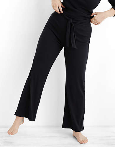 Aerie Ribbed Wide Leg Pant