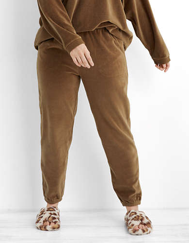 Aerie REAL Obessed Velour Jogger