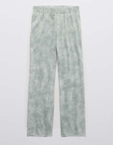 Aerie Sunset Terry Fleece Tie Dye Cropped Pant