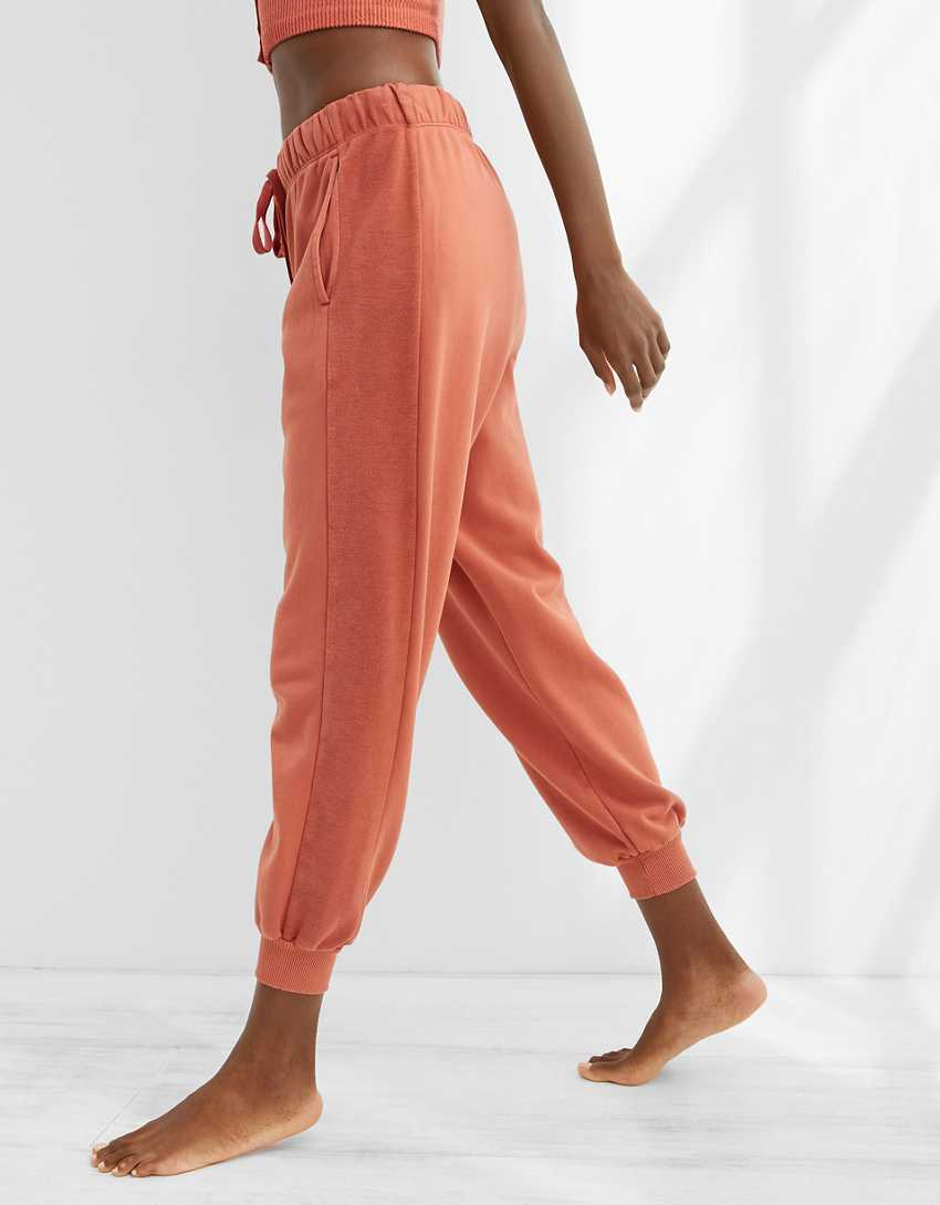 Aerie Luxe Inside Out High Waisted Cropped Jogger