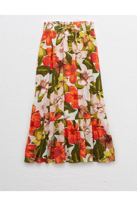 60s Skirts | 70s Hippie Skirts, Jumper Dresses Aerie Maxi Skirt Womens Resort Red XXL $24.97 AT vintagedancer.com