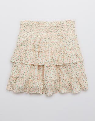 Aerie Ruffle Mini Skirt
