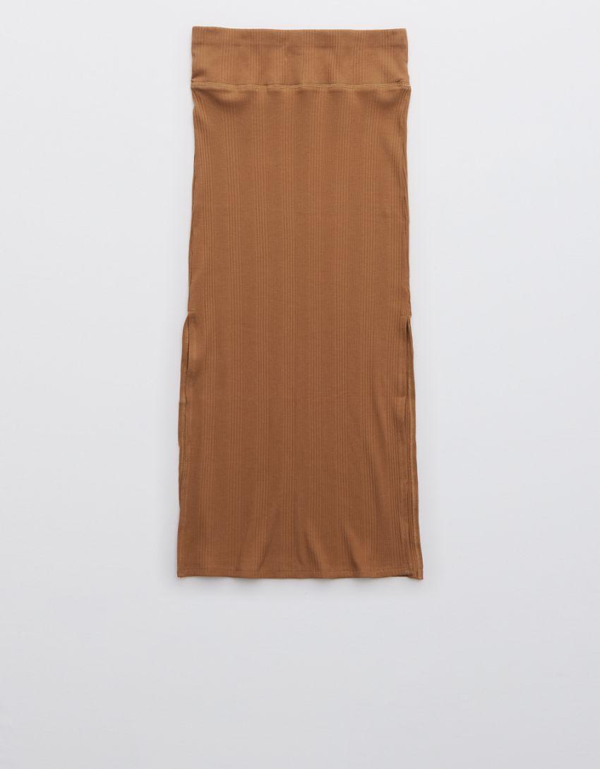 Aerie Ribbed Midi Skirt