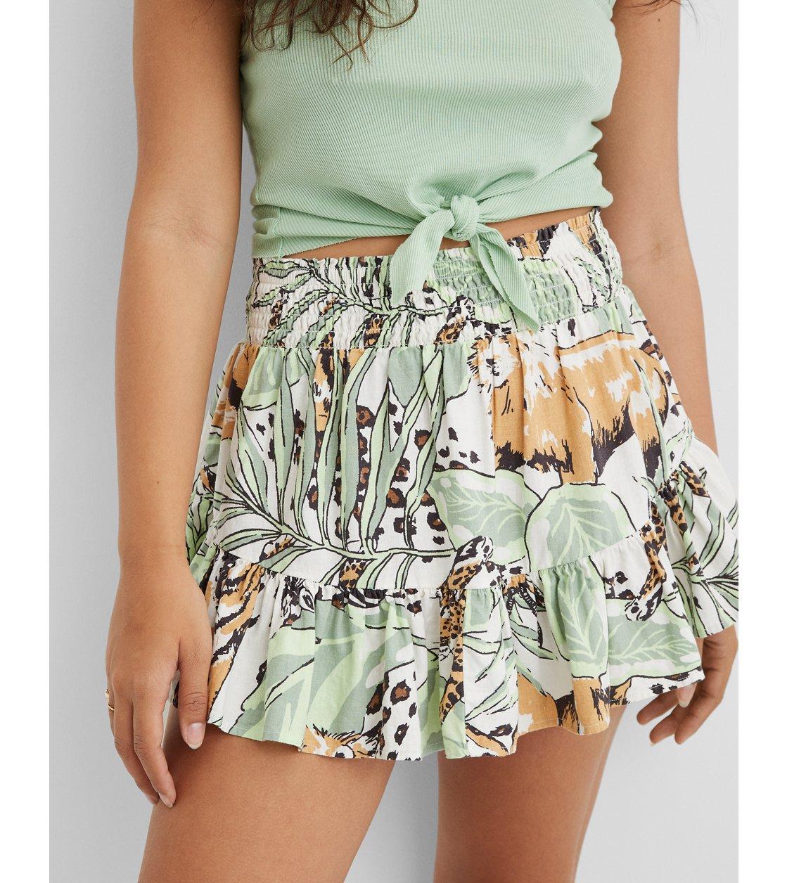 American Eagle Aerie Linen Mini Skirt